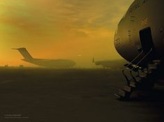 C17 Globemaster Transport Aircraft at RAF Brize Norton by Defence Images
