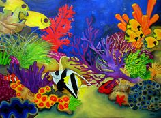coral paintings | Coral Reef Painting