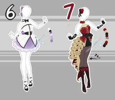.::Adoptable Collection 19 (1, 5-6 OPEN)::. by Scarlett-Knight.deviantart.com on @DeviantArt