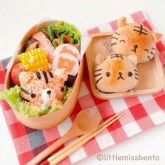 Tiger bento. Kawaii food and cute desserts