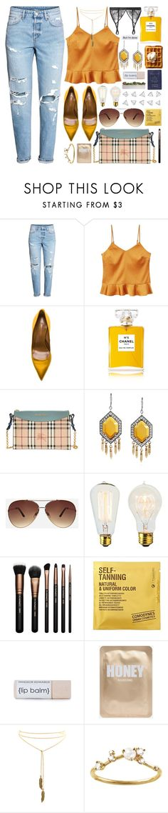 """""""But I'm Done"""" by laurengoode23 ❤ liked on Polyvore featuring MANGO, Aquazzura, Chanel, Burberry, Ashley Stewart, Passport, Comodynes, WWAKE and Mimi Holliday by Damaris"""