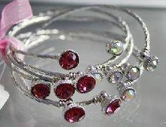 Multi-layered stone silver bracelet set *new*