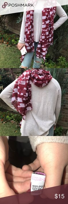 Alma-Mater Okie scarf Crimson Scarf with Oklahoma states on it, perfect for OU fans...Boomer!! Alma-Mater Accessories Scarves & Wraps