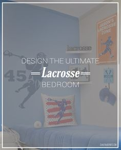 Have you checked out all of our lacrosse bedroom decor lately? Make your bedroom the ultimate lax room with our personalized wall decals, room signs, pillows, and more!