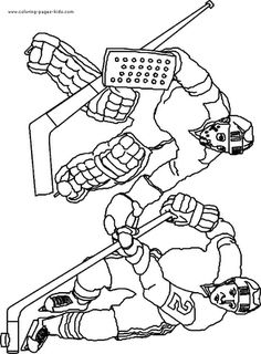 Ice Hockey Coloring Pages For Kids