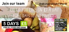 Join us for live #belowtheline and support The Hunger Project! Register with us now via www.thehungerproject.co.uk/getinvolved/live-below-the-line/  #teamhunger #lbtl #hungerproject