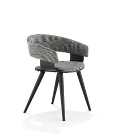 Allermuir Mollie dining or meeting chair. On trend in timber and mono colour finishes.