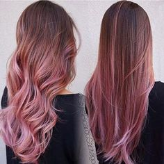 15 Awesome Trendy Mauve Hair Color 2018 For Great Appearance – dessins de cheveux Pink Ombre Hair, Brown Ombre Hair, Hair Color Pink, Mauve Color, Ombre Green, Ombre On Straight Hair, Pink Hair Streaks, Chocolate Mauve Hair, Mechas Chocolate