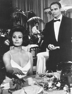 Marlon Brando and Sophia Loren in A Countess from Hong Kong