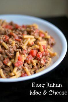 Easy Italian Mac & Cheese | Aunt Bee's Recipes