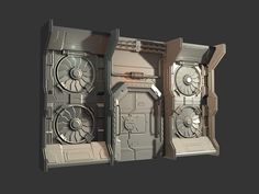sci fi hangar bay - Polycount Forum