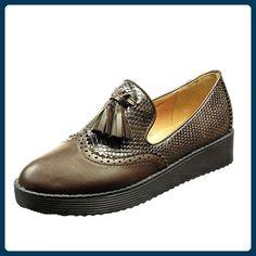 Angkorly - Chaussure Mode Bottine femme frange fantaisie brodé Talon plat 2.5 CM - Noir - 151-52 9lgAxGF2X