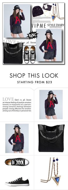 """""""VipMe 5"""" by adnaaaa ❤ liked on Polyvore featuring Converse, women's clothing, women, female, woman, misses, juniors and vipme"""