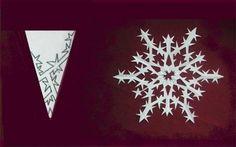 How to Make Paper Kirigami Snowflake Flowers   www.FabArtDIY.com LIKE Us on Facebook ==> https://www.facebook.com/FabArtDIY