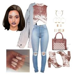 """""""Untitled #2531"""" by mrkr-lawson on Polyvore featuring Charlotte Russe, Topshop, Nasty Gal, River Island, Forever 21 and Crislu"""