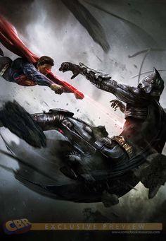 """Superman vs Batman in """"Injustice""""by Francesco Mattina"""