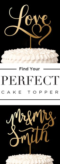 Must have wedding cake toppers for your big day! ♥ This site has so many elegant gold and silver designs to choose from! www.betteroffwed.co