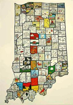 """Inspiration for my novel """"Promise"""": Indiana counties quilt ..."""