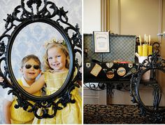 Kids and props for wedding photo booth