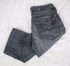 Buffalo David Bitton Jeans 33 x 28 Brady Straight Leg Buckle Distressed NWT #BuffaloDavidBitton #ClassicStraightLeg