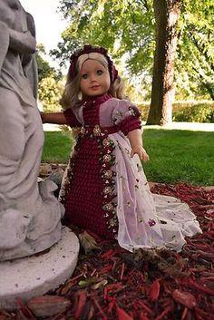 "Regency Gown, ""Autumn in The Secret Garden"" by luminariadesigns   eBay ends 10/7/13  $125.00"