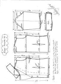Esquema de modelagem do Blazer com Gola Tradicional tamanho 44.