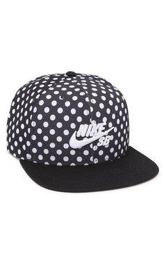 Nike SB Polka Icon Snapback Hat - Mens Backpack - Black - One bef7ad5c50d