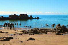 Einstieg für Taucher am Strand Playa Chica, Puerto del Carmen, Lanzarote, Kanaren