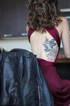 Beautiful Floral Tattoo On The Back... - Tattoo Ideas #tattoosforwomenonback