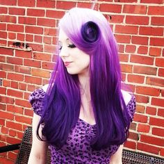 Gorgeous Reverse Ombre Purple Hair! (This would be ahmazing in Pink)