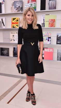 Mollie King keeps it classic in black ensemble at Louis Vuitton bash Simple Outfits, Classy Outfits, Work Fashion, Fashion Advice, Celebrity Dresses, Celebrity Style, Bobs, Nice Dresses, Dresses For Work