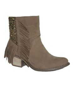 Another great find on #zulily! Taupe Denver Bootie by HeartSOUL #zulilyfinds