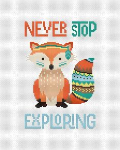 Boho fox baby cross stitch pattern baby cross by AnnaXStitch