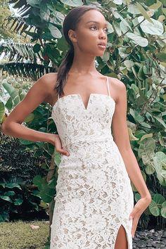 White Lace Midi Dress | Affiliate Link