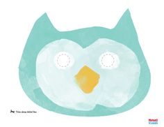Owl Mask Printable. Bring out your wild side by creating a woodland creature mask. This is perfect for the smile booth!