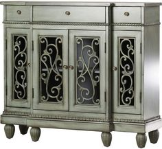 Store your extra dinnerware, flatware, and table linens in a buffet table or sideboard. Shop our great selection of stylish buffet tables and sideboards. Mirror Panels, Sideboard Buffet, Credenza, Console Table, Hand Painted Furniture, Furniture Styles, Joss And Main, Adjustable Shelving, A Team