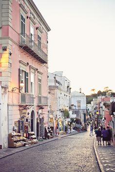 Wandering the streets of Ischia.