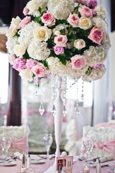 Real Wedding with Pink Roses and Pearls by Just Love Me {Photography + Design} | Done Brilliantly