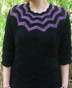 This intriguing sweater knitting pattern is as fun to look at as it is to knit.