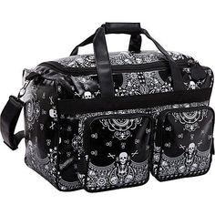 Loungefly Skull Bandana Print Luggage - So perfect I'm gonna die! Skull Purse, Skull Fashion, Punk Fashion, Lolita Fashion, Duffle Bag Travel, Backpack Bags, Grunge, Bandana Print, Bustier