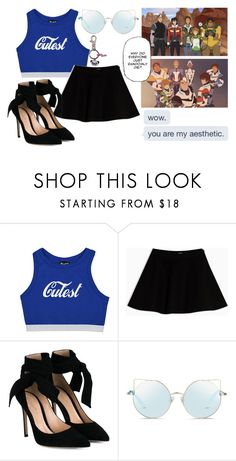 """""""When I say vol you say tron, VOL"""" by sindrian-official ❤ liked on Polyvore featuring Max&Co., Gianvito Rossi, Matthew Williamson and Panda"""