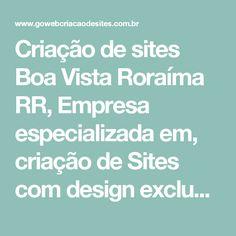 Criação de sites Boa Vista Roraíma RR, Empresa especializada em, criação de Sites com design exclusivo - Go Web criação de sites