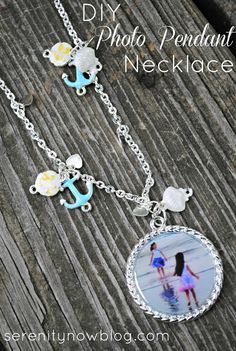 DIY Photo Pendant Necklace with Martha Stewart Jewelry, from Serenity Now - uses Dimensional Magic!