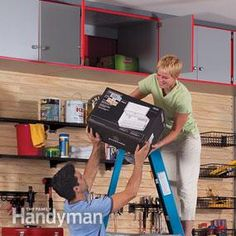 If all the stuff in your garage is within easy reach, you're probably wasting lots of storage space. The high spaces may not be prime real estate for often-used tools, but they're perfect for long-term storage.