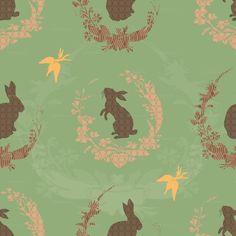 Fabric - Jade Moon Rabbit