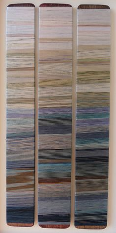 Distant day, hand dyed threads. Helena Emmans.