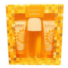 SUNFLOWERS3 PC. GIFT SET ( EAU DE TOILETTE SPRAY 3.3 oz + BODY LOTION 3.3 oz + HYDRATING CREAM CLEANSER 3.3 oz FOR THE BODY)