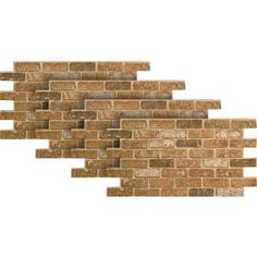 Urestone Weathered Orange 24 in. x in. Faux Used Brick Panel - The Home Depot Brick Veneer Siding, Stone Siding Panels, Faux Stone Siding, Stone Veneer Panels, Brick Paneling, Faux Brick, White Vinyl Fence, Vinyl Fence Panels, Stacked Stone Panels