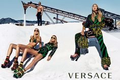 Gigi, Natasha & Raquel for Versace Spring/Summer 2016 Campaign by Steven Klein - Fashnberry