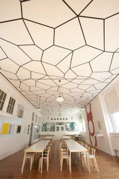 Love this pattern on the ceiling